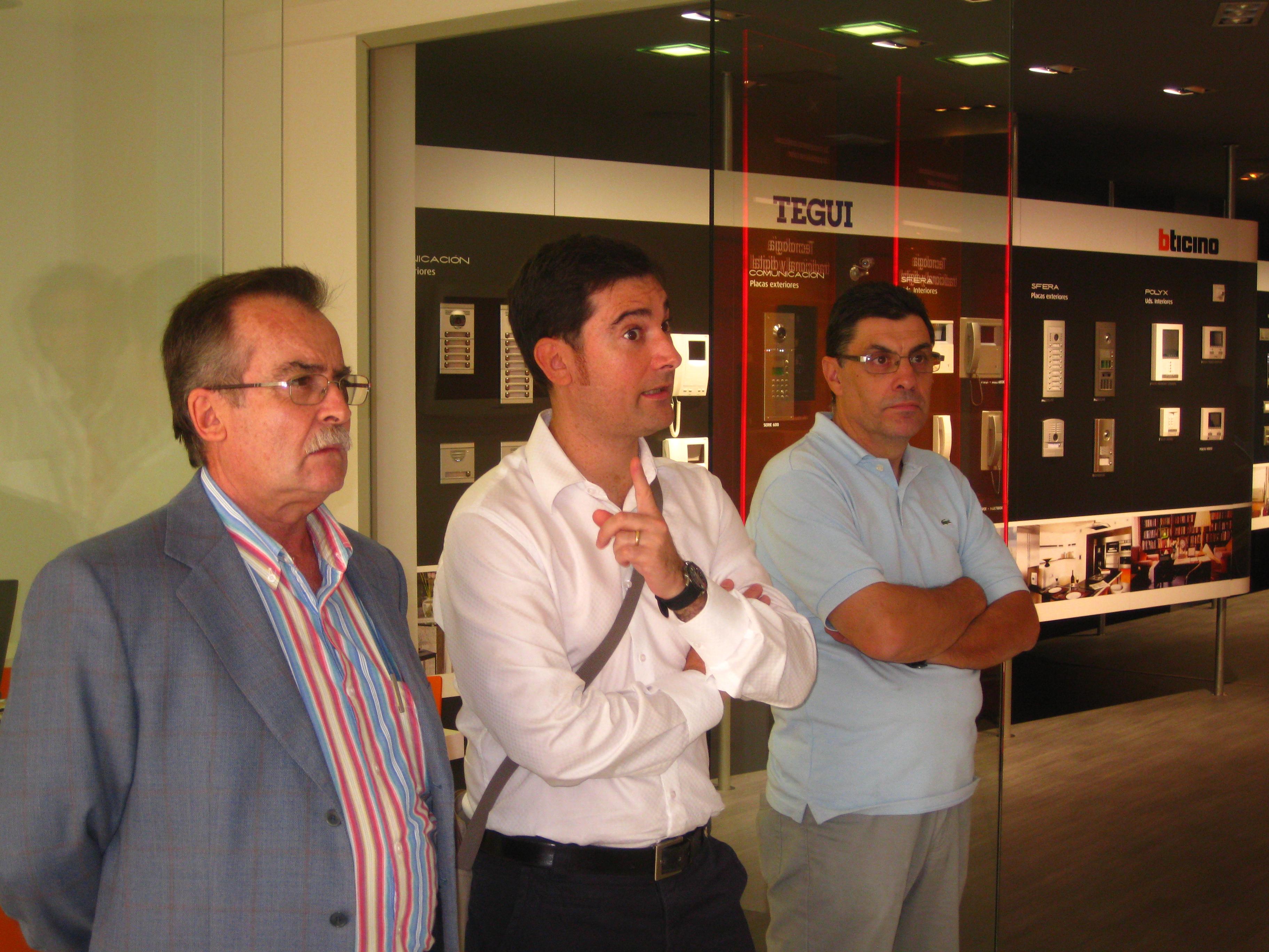 Juan, José Antonio y Manolo de Antenas Nuñez