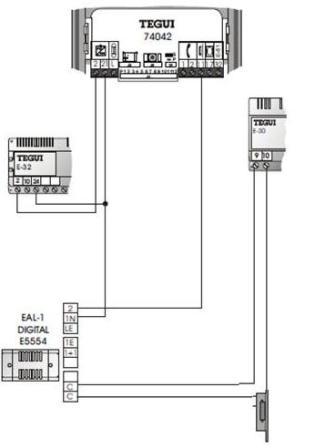 Grupo f nico tegui 074042 s 100 y los abrepuertas distel for Instalacion portero automatico tegui