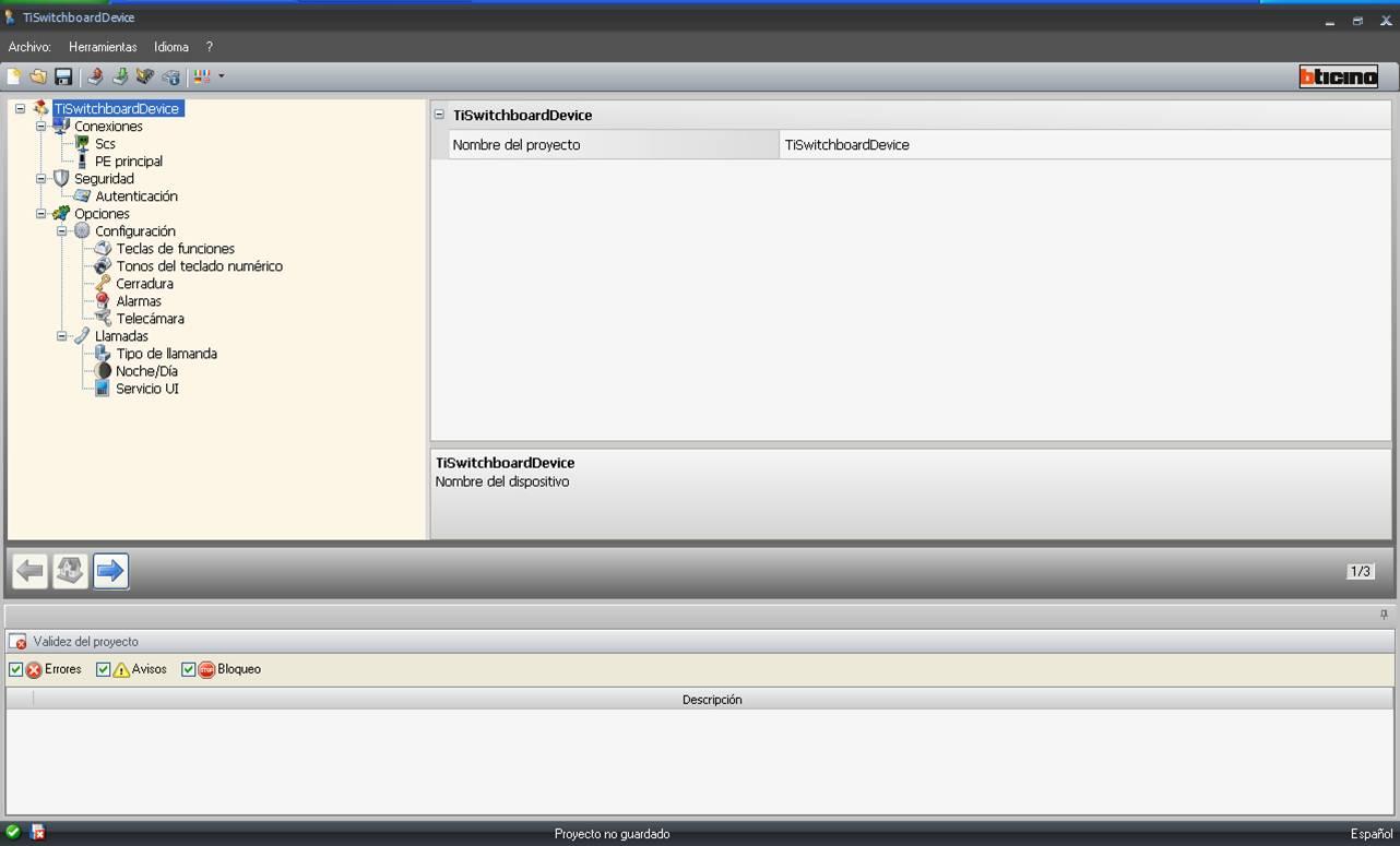 Programa configuración Conserjería